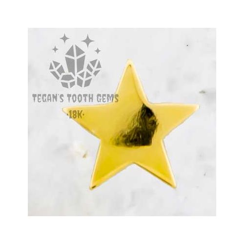 TEGAN'S TOOTH GEMS 18KT GOLD STAR