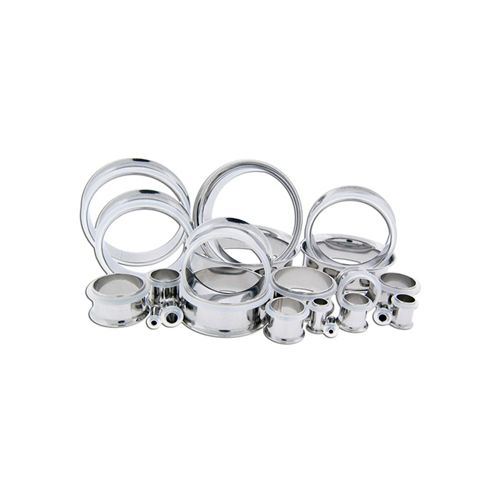 STEEL SINGLE FLARE TUNNELS WITH CLEAR ORING