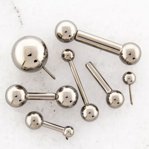 14G THREADLESS BARBELL W/ BALL AND FIXED BALL
