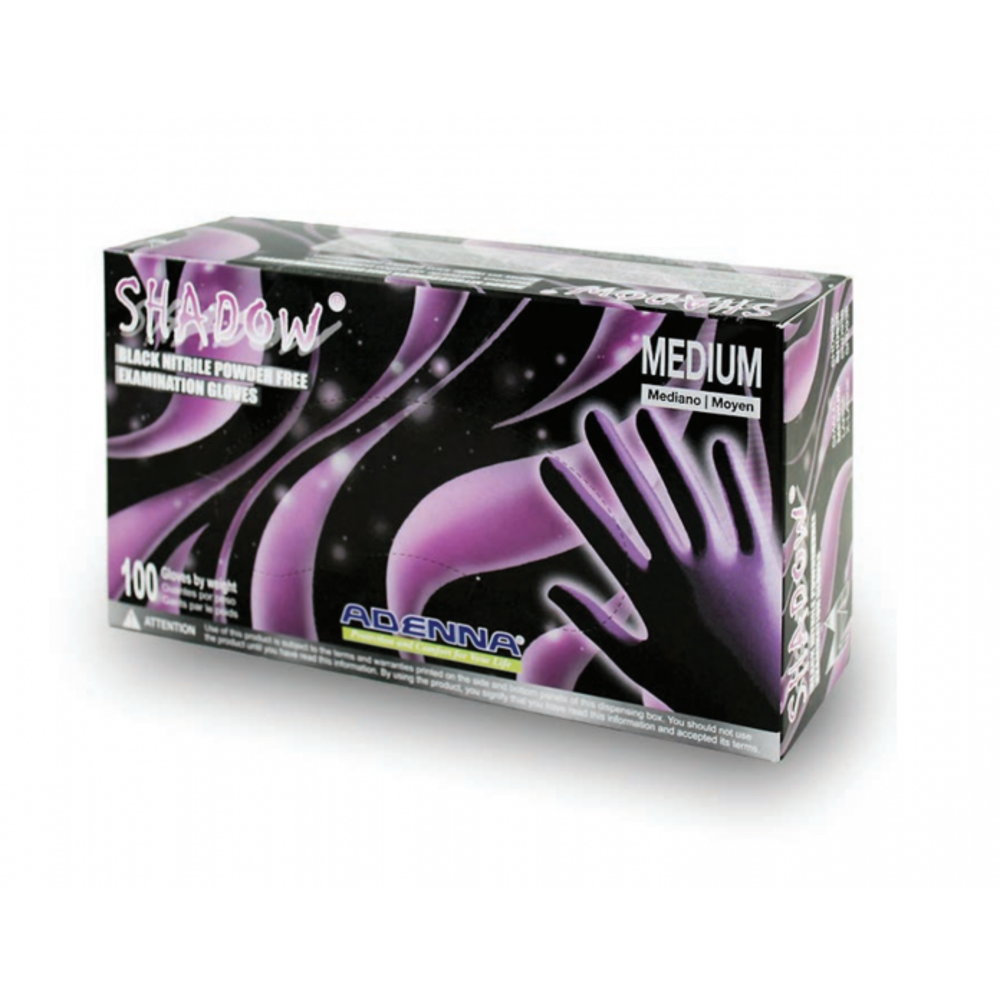 Shadow® Black Nitrile Exam Gloves