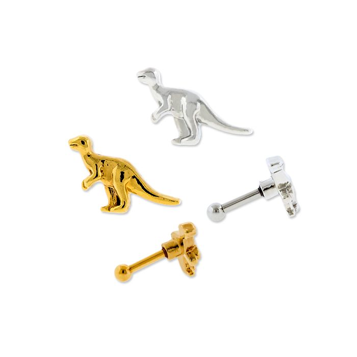 Dinosaur Ear Barbell Gold